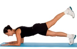 plank with leg lift exercise for weight loss