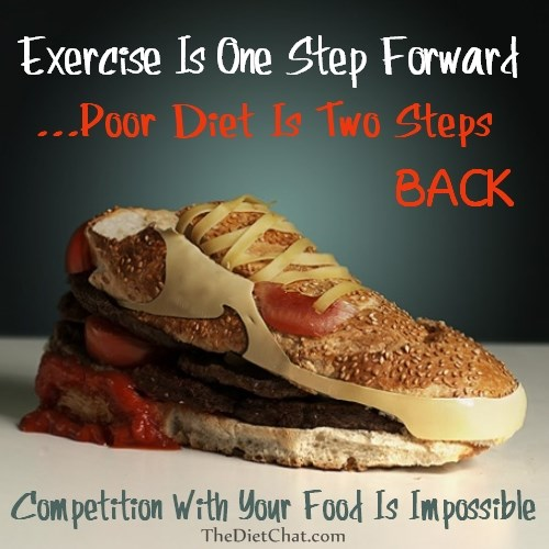 Exercise and diet compete for weight loss