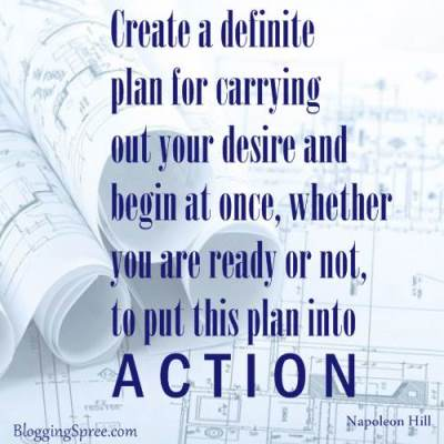 You need to have a plan of action