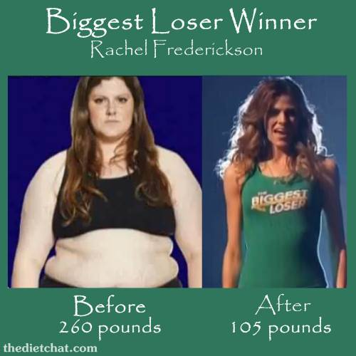 Biggest Loser Rachel Frederickson before and after
