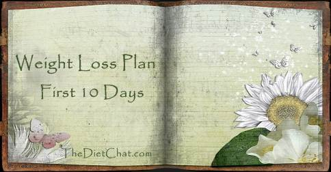 weight loss plan first 10 days